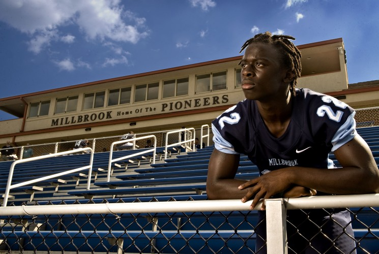 Millbrook's Nazeeh Johnson could play a key part in the Pioneers' success this season.       Rich Cooley/Daily